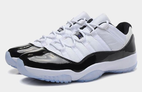 Фото Air Jordan 11 Retro Concord Low черно-белые - 2